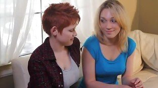 Lesbian games between blonde and red head