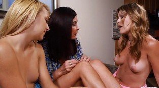 2 young Blondes with a mature Woman.