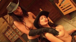GHOST RIDERS - oiled lesbian cowgirls music video