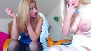 Lesbian Lacatation Play and Ass Fisting On Webcam