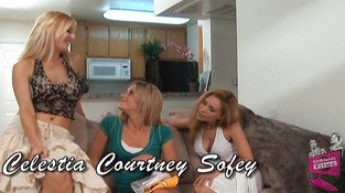 Courtney Simpson & Celestia Star & Sophia & Miranda in Lesbian Seductions #07