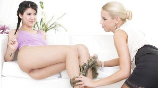 Lady Dee & Karol Lillen in You Horny Little Girl! - DoghouseDigital