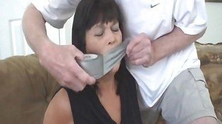 Milf tied gagged