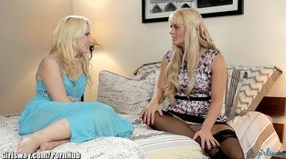 Girlsway Bratty Daughter Ass Plays with Stepmom
