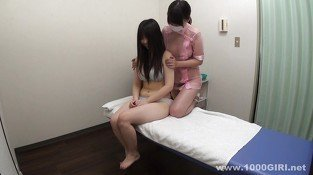 Asian girl on girl massage