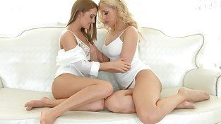 Sapphicerotica sensual girls in white enjoy l
